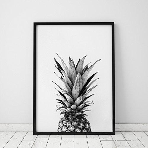 Cuadro piña blanco y negro