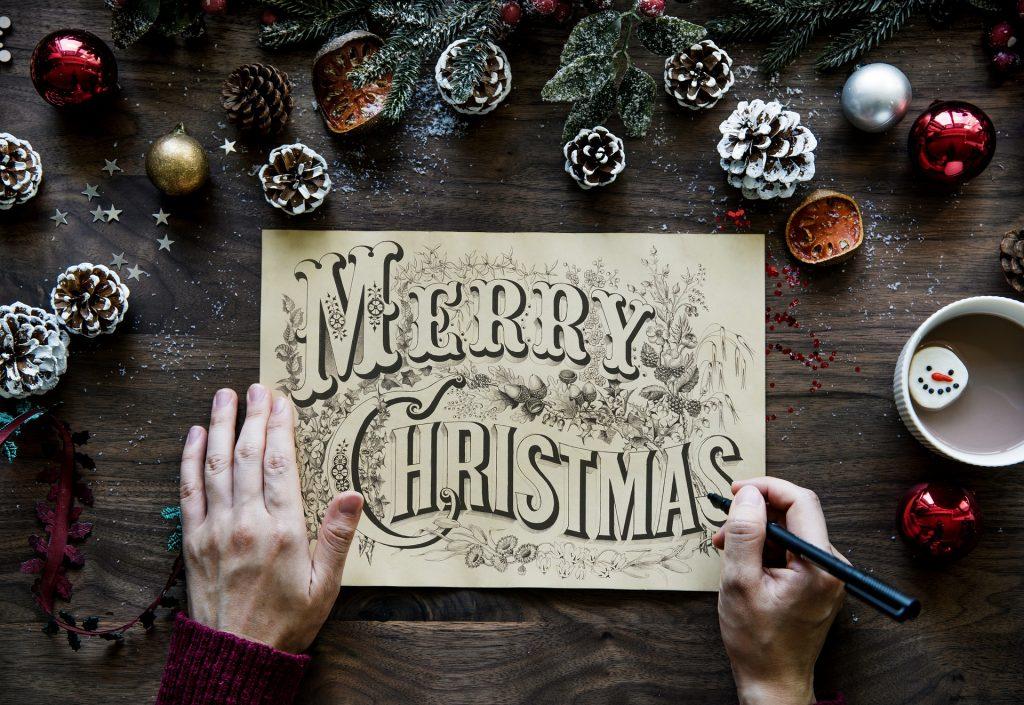 Piña decorativa de navida
